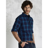 11464669738374-roadster-tonal-blue-checked-casual-shirt-681464669738157-2
